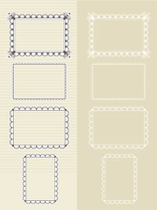 Free Set Of Frames Royalty Free Stock Image - 24299136