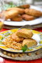 Free Cutlets With Peas Royalty Free Stock Photography - 2432977