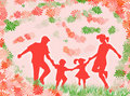 Free Family And Flowers Royalty Free Stock Photography - 2437327