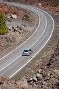 Free Road Through Volcanic Landscap Stock Images - 2437394