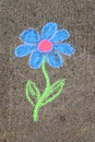 Free Blue Chalk Flower Royalty Free Stock Images - 2438899