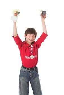 Free Boy Winning In Competition Stock Photography - 2430032