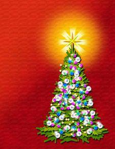 Free A Christmas Tree Stock Photography - 2434442