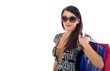 Free Beautiful Sexy Shopping Woman Royalty Free Stock Image - 2434506