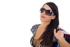 Free Beautiful Sexy Shopping Woman Stock Image - 2434511
