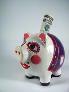 Piggy Pink Ceramic Stock Photos