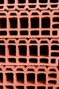 Free Bright Red Bricks Background Royalty Free Stock Image - 2435246