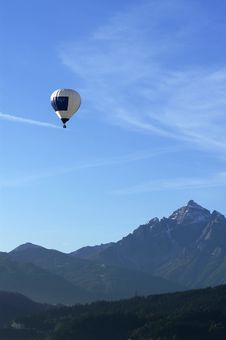 Free Balloon In The Alps Stock Images - 2436814