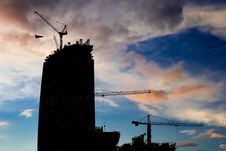 Free Crane Builds Business Center-3 Stock Image - 2437351