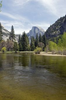 Free Half Dome From River Stock Photography - 2437442