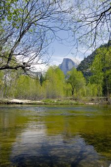 Free Half Dome And Merced River Stock Photos - 2437443