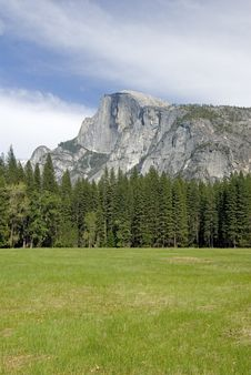 Free Half Dome Seen From Valley Royalty Free Stock Image - 2437546