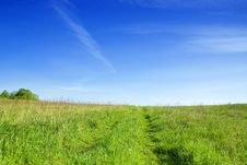 Free Meadow With Clouds. Royalty Free Stock Image - 2438136