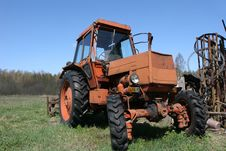 Free Wheeled Tractor Stock Image - 2438431