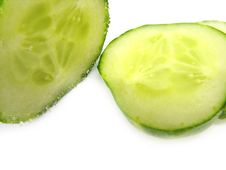 Free Round Slices Of A Cucumber. Royalty Free Stock Image - 2438526