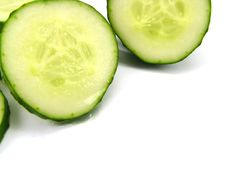 Free Slices Of A Cucumbe 2r. Royalty Free Stock Images - 2438529