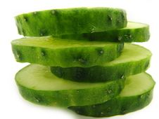 Free Slices Of A Cucumber. Royalty Free Stock Photo - 2438535