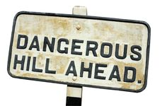 Free Dangerous Hill Ahead Royalty Free Stock Photography - 2438937