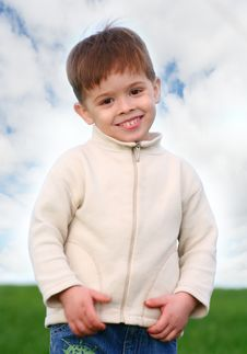 The Nice Boy Smiles Royalty Free Stock Image