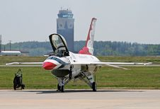 Free A Fighter At A Air Show Stock Images - 2439954
