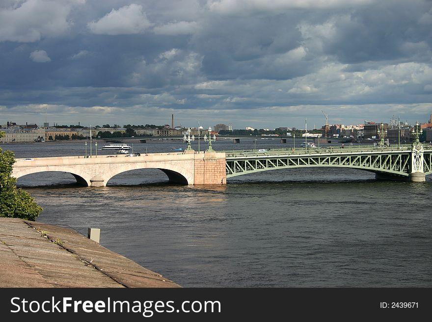 Trinity Bridge in Saint Peters