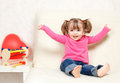 Free Little Girl Playing With Toys Royalty Free Stock Photos - 24300348