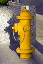 Free Yellow Fire Hydrant Stands On Concrete Downtown Royalty Free Stock Photo - 24303275