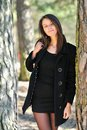 Free Pretty Girl Standing In A Forest Stock Photos - 24308353