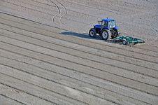 Tractor Beach Stock Photo