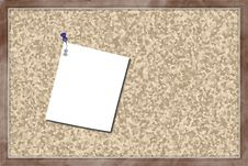 Free Cork Board With Blank Paper Royalty Free Stock Images - 24304289
