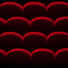 Free Red Empty Seats Stock Images - 24305124
