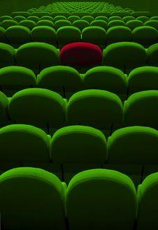 Free Green Empty Seats Stock Photo - 24305360