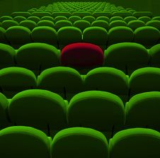 Free Green Cinema Or Theater Seats Stock Images - 24306234