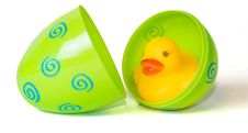 Free Rubber Duck In Easter Egg Royalty Free Stock Image - 24308046