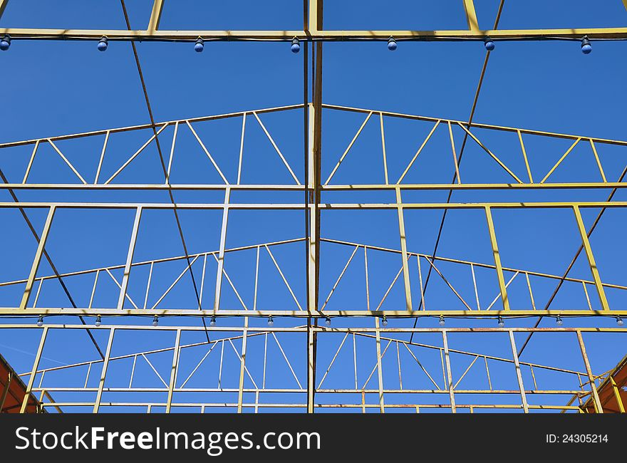 Metallic site in sky