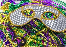 Seqioned Mardi Gras Masquerade Mask Royalty Free Stock Photography
