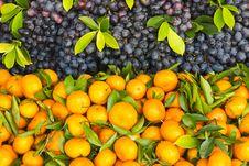Free Fresh Orange And Grape Fruit Royalty Free Stock Image - 24311416