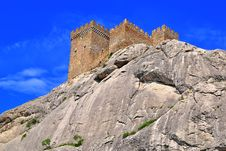 The Genoa Fortress In Crimea Stock Photos