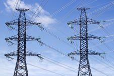 Free Transmission Power Lines Stock Images - 24315534