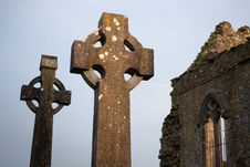 Free Celtic Stone Crosses Stock Photo - 24315650