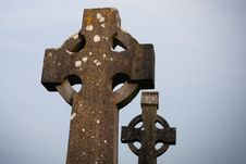 Free Celtic Stone Cross Royalty Free Stock Photos - 24315768