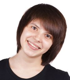 Free Portrait Of Happy Teenager Isolated Stock Images - 24316494