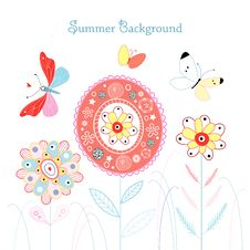 Free Summer Background Royalty Free Stock Photography - 24317247