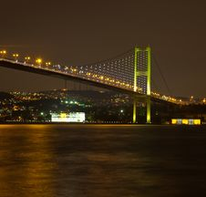 Free Bosphorus Bridge At The Night 5 Stock Photos - 24318073