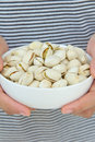 Free Hand Holding Pistachios Stock Images - 24328414