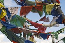 Free Buddhist Prayer Flags Royalty Free Stock Photos - 24322448