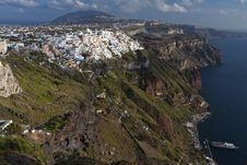Free Fira City At Santorini Island, Greece Royalty Free Stock Photos - 24323048