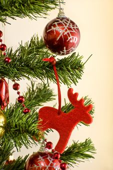 Objects Of Christmas Ornaments Royalty Free Stock Images