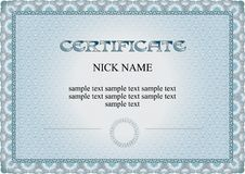 Free Certificate, Diploma For Print Royalty Free Stock Photo - 24323645