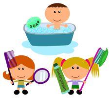 Free Kids Hygiene Stock Photos - 24324073